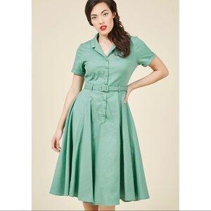 Modcloth Collectif Mint Shirt Dress